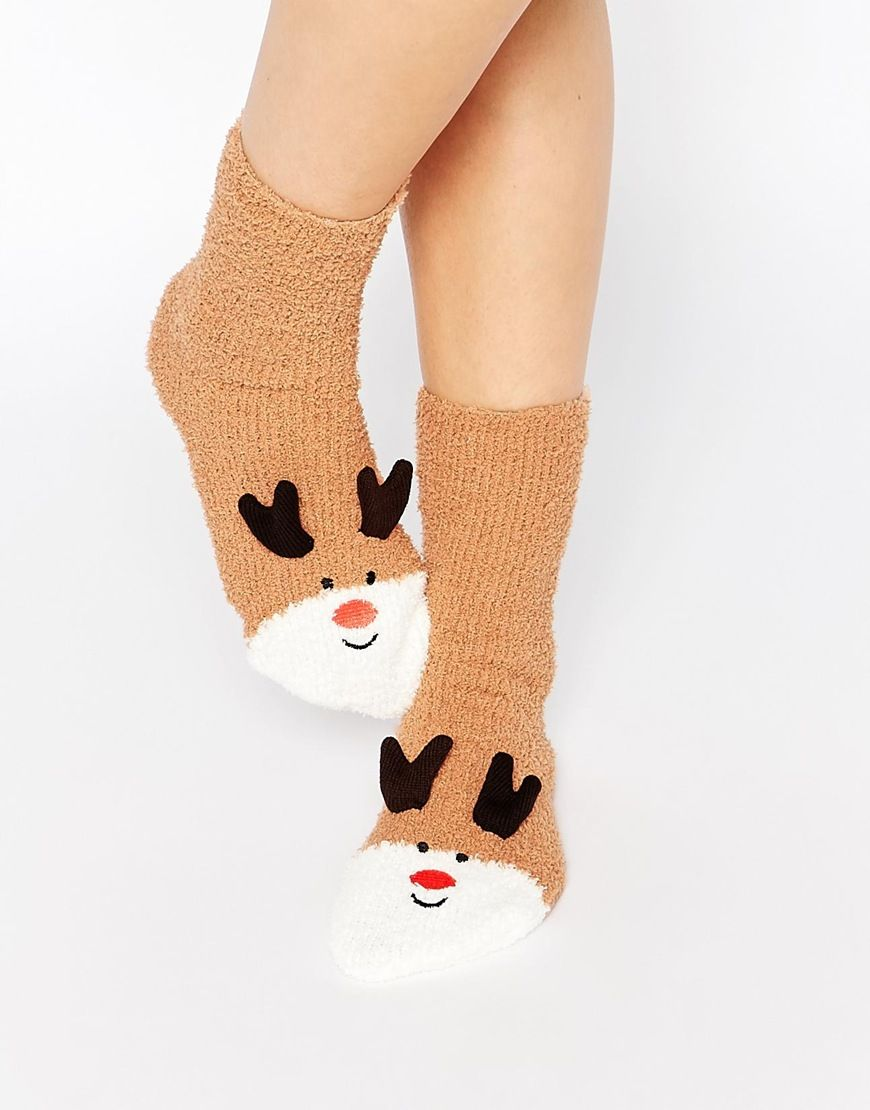ab71338e8 Image 3 of ASOS Christmas Reindeer Cosy Sock In Sleigh Box Gift Set ...