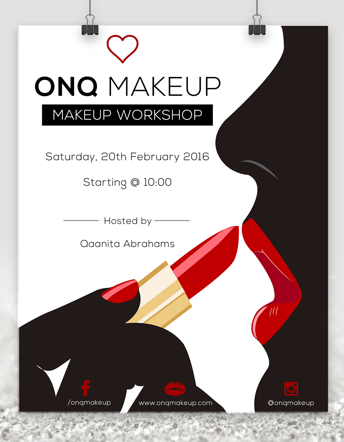 Makeup Flyer on Behance imagens