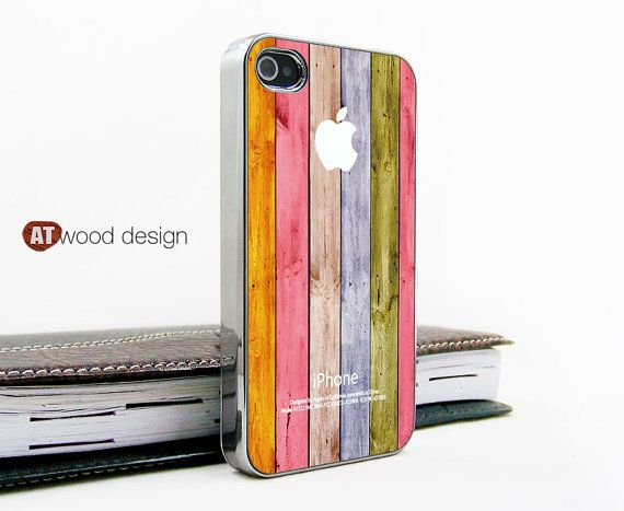 silvery iphone 4 case iphone 4s case iphone 4 cover Iphone colorized wood texture image unique design printing. $16.99, via Etsy.