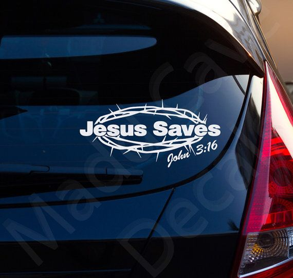 "6/"" JESUS FISH SYMBOL RELIGIOUS CAR LAPTOP BOOK STICKER DECAL CHOICE OF COLOUR"