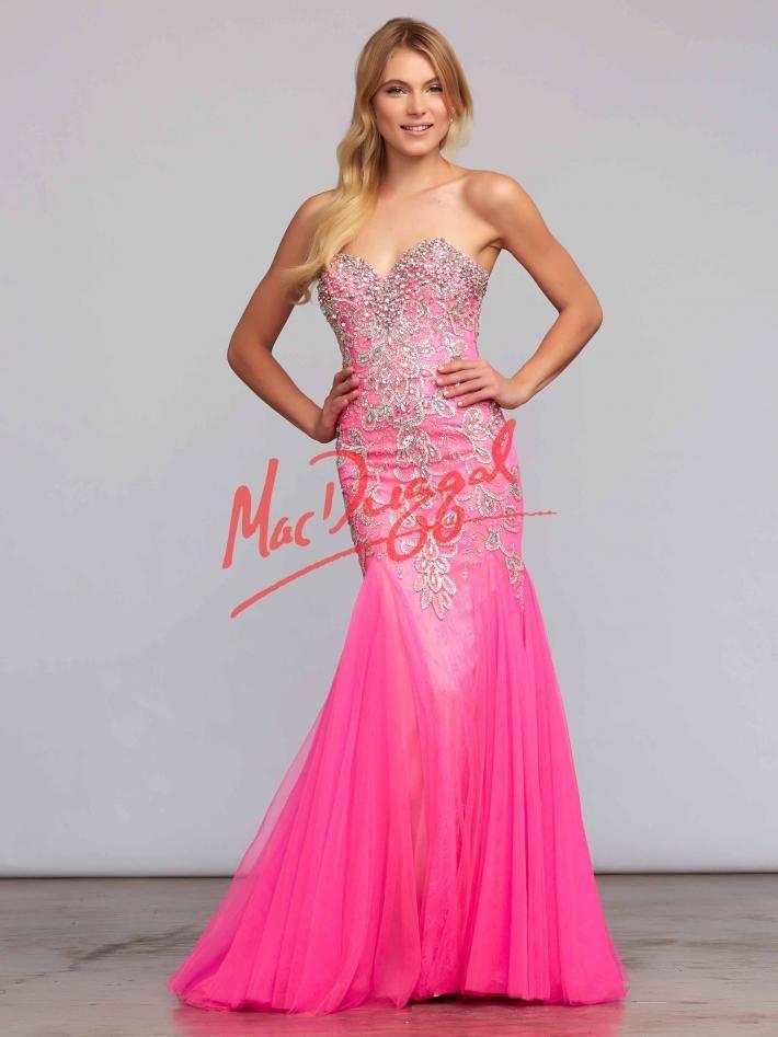 Hot Pink Prom Dress | Beaded Mermaid Dress | Mac Duggal 81719M | Mac ...