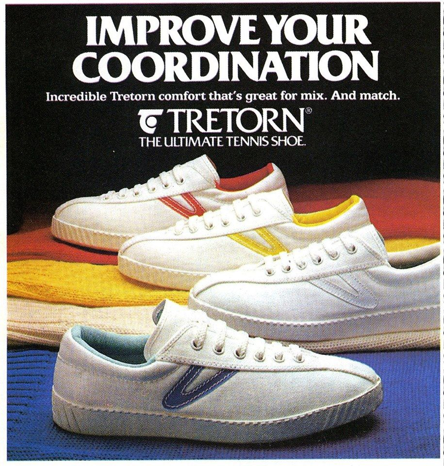 70s Tretorn Tennis Shoes Ad | 70s Cαℓi вєαςн Surf ѕкαтє