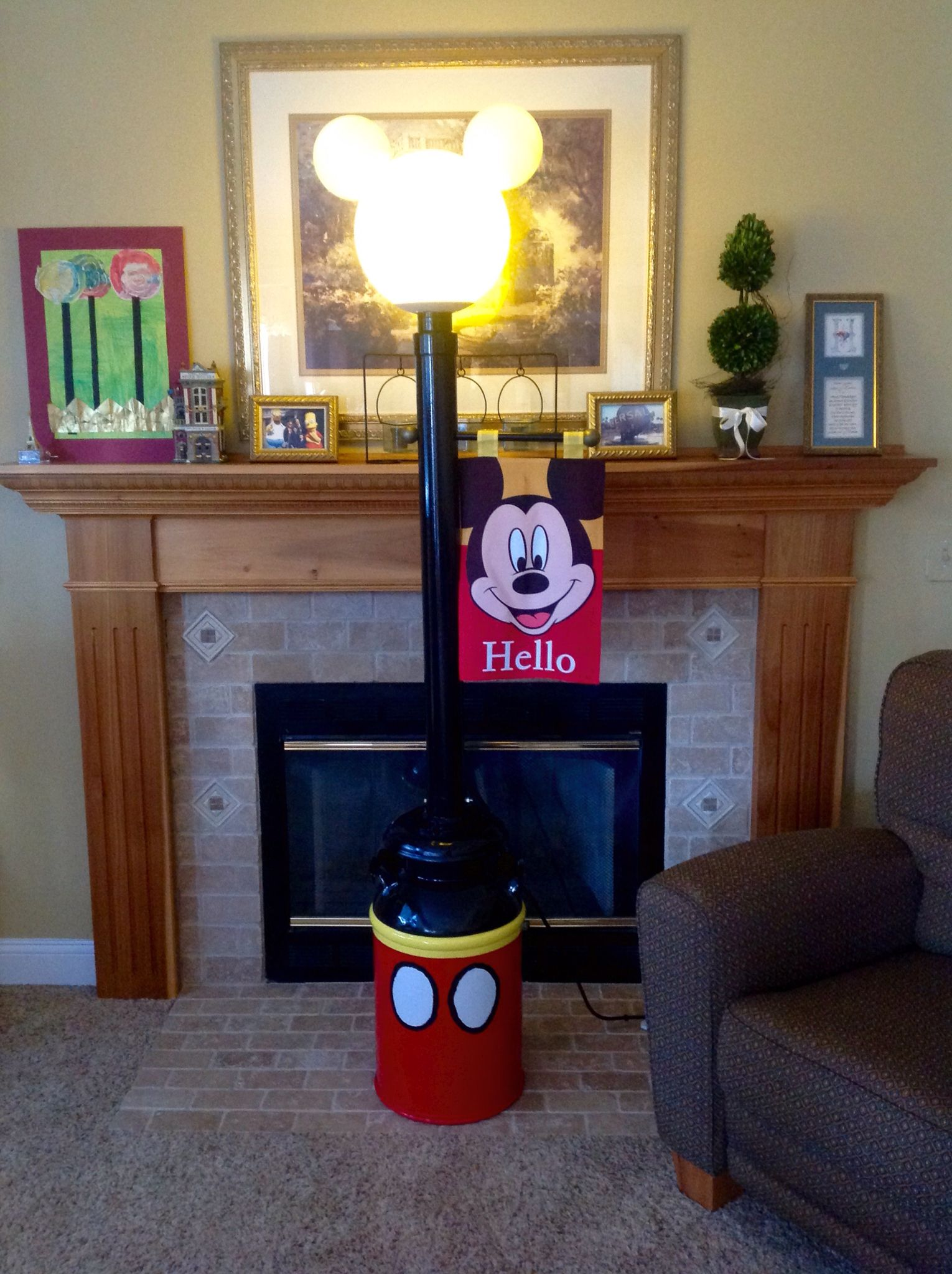 Mickey Mouse Lamp Post My Husband Made For Fort Wilderness Campground.