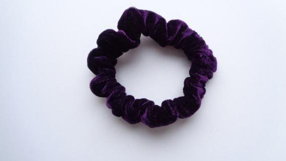 Mini  velvet violet scrunchies scrunchy scrunchie Mini Scrunchie hair scrunchie ,Chouchou, hair acce #hairscrunchie