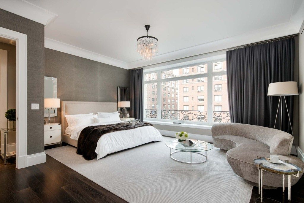 Wall Paper Contemporary Master Bedroom Featuring Pendant Lightning A Soft Colo Master Bedroom Interior Contemporary Master Bedroom Ideas Modern Master Bedroom