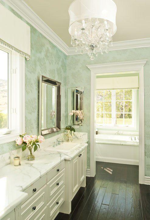 bathrooms Restoration Hardware Beaded Mirror