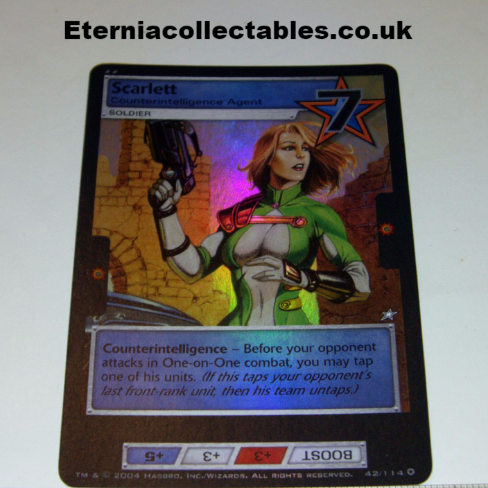 ITEM trading card from 2004 scarlet foil rare series
