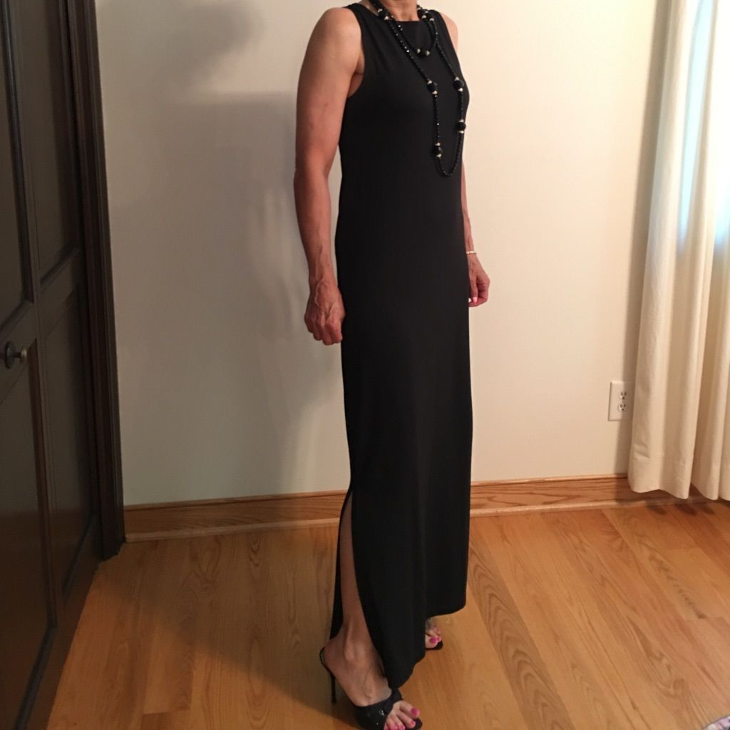 Long Black Dress With A Slit On The Side