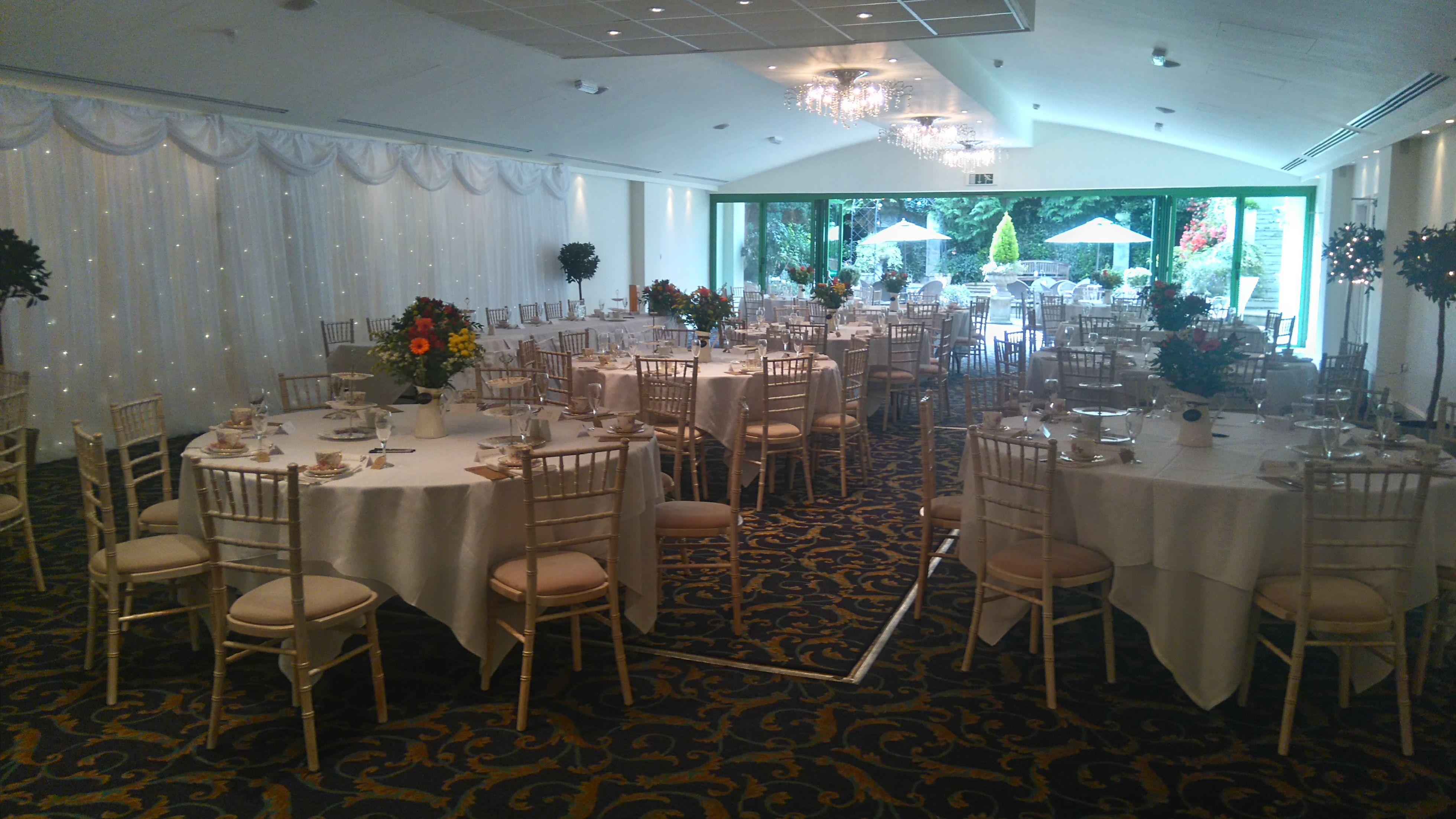 Limewash chiavari chairs supplied to The Bear Hotel by Simply Bows