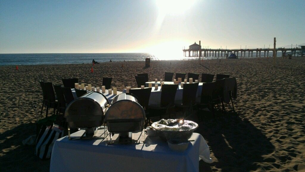 Sunset dinner catering on the beach........ Catering