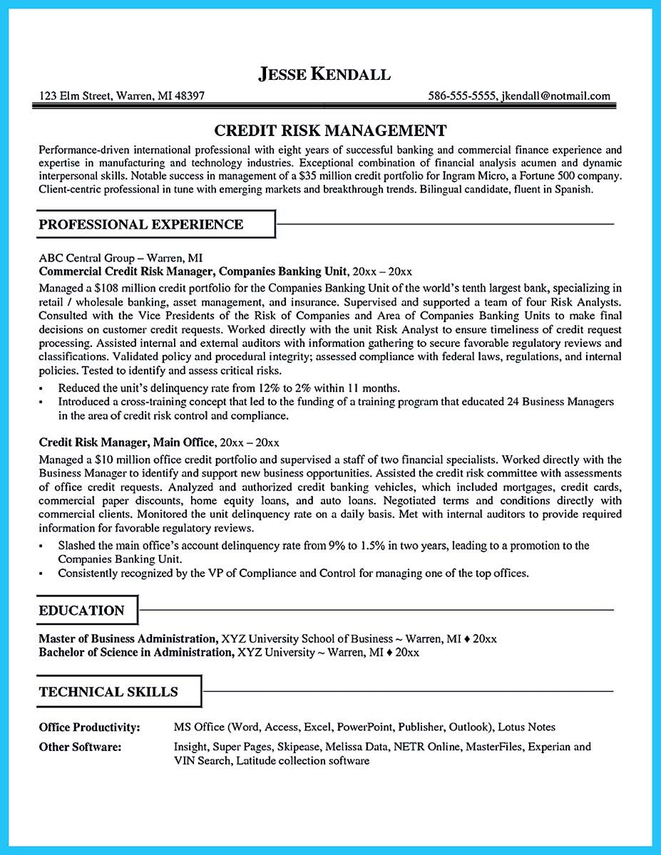 resume financial analyst best format amazing finance