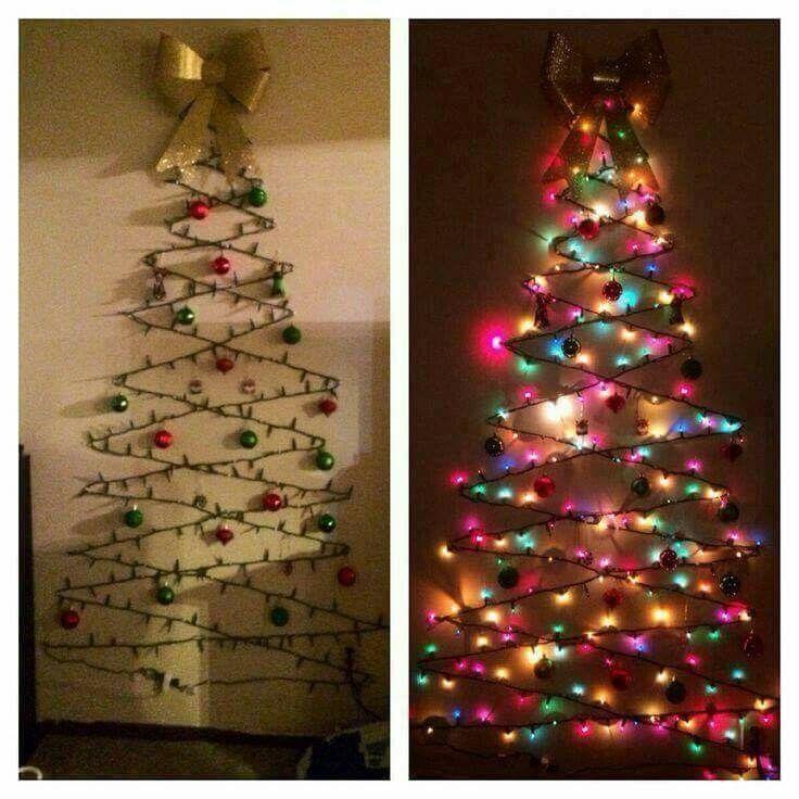 Ideas Facil De Realizar En La Pared Me Encanto El El 1 Y Otros Mas Arbol De Navidad Pared Manualidades Navidenas Ideas Para Arboles De Navidad