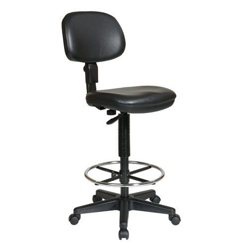 Executive Black Sculptured Seat and Back Vinyl Drafting ...