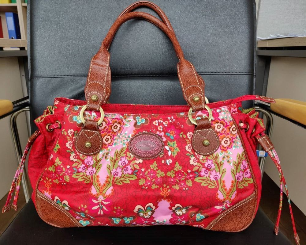Oilily Handbag Red Multicolor Flower Cute Bag Clothes Shoes Accessories Women S Bags