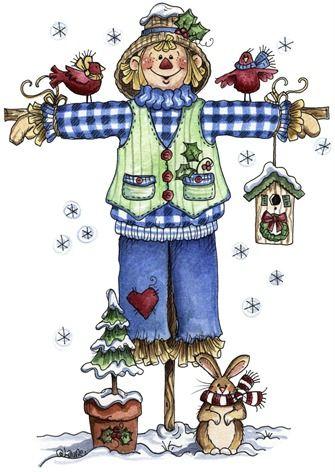 blog08082011 clipart imagem decoupage Winter Scarecrow01 (1)