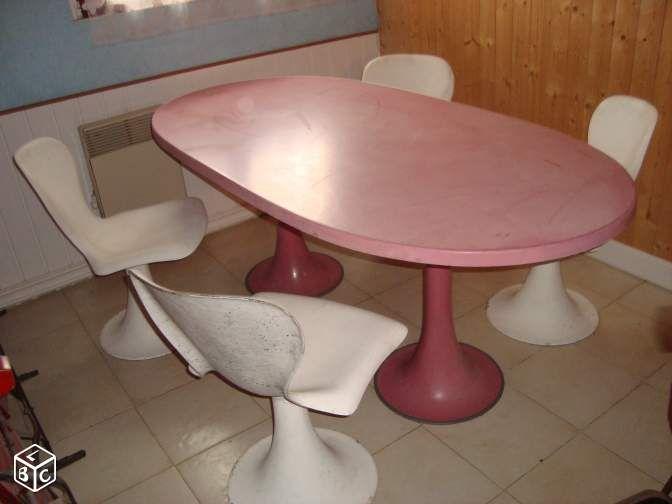Table Et 4 Chaises Cone Tulipe Annee 70 Vintage Ameublement Yvelines Leboncoin Fr Ameublement 4 Chaises Chaise