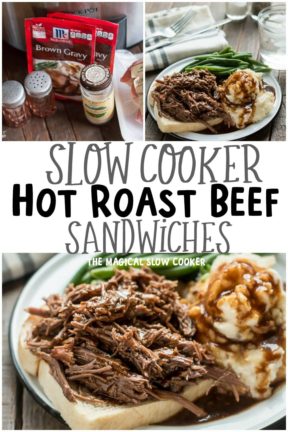 Slow Cooker Hot Roast Beef Sandwiches images