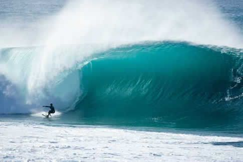 Bonzai Pipeline, one of the most recognizable surf spots in the world.