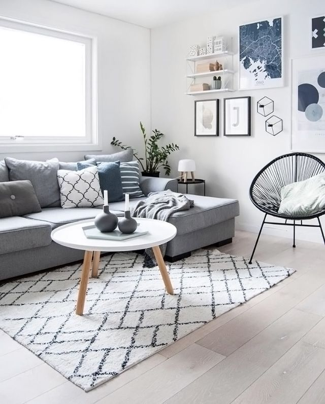 A Gorgeous Living Room By Enkontrast Tablo Coffee Table And String Pocket Shelf Are