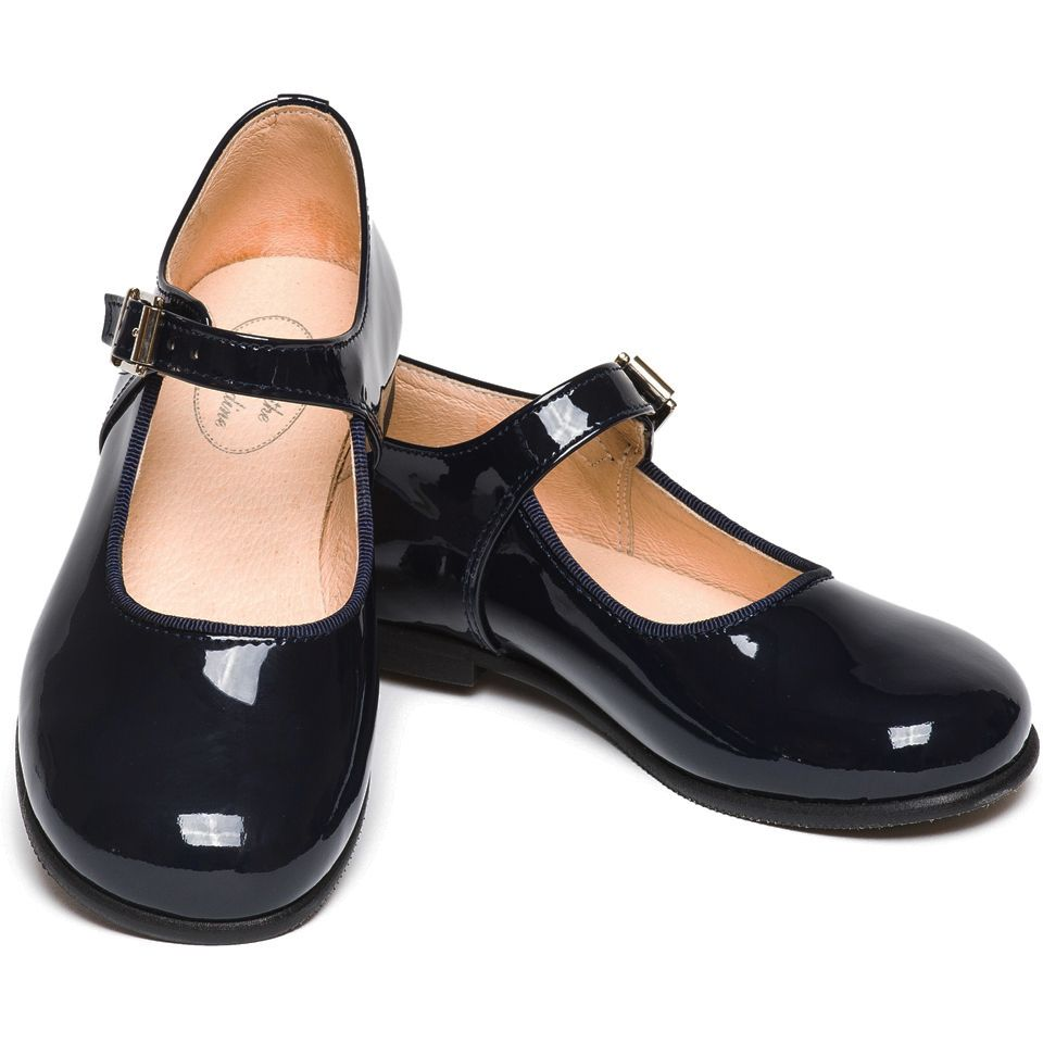 d85bbcbd7b3a Patent navy blue Mary Jane shoes for girls- little girls just love shiny  shoes! Ideal for Christmas