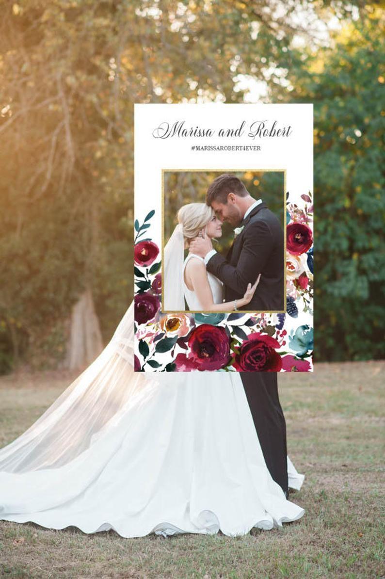 Wedding Photo Booth Frame Wedding Photo Prop Floral Gold Etsy Framed Wedding Photos Wedding Frames Wedding Photo Booth