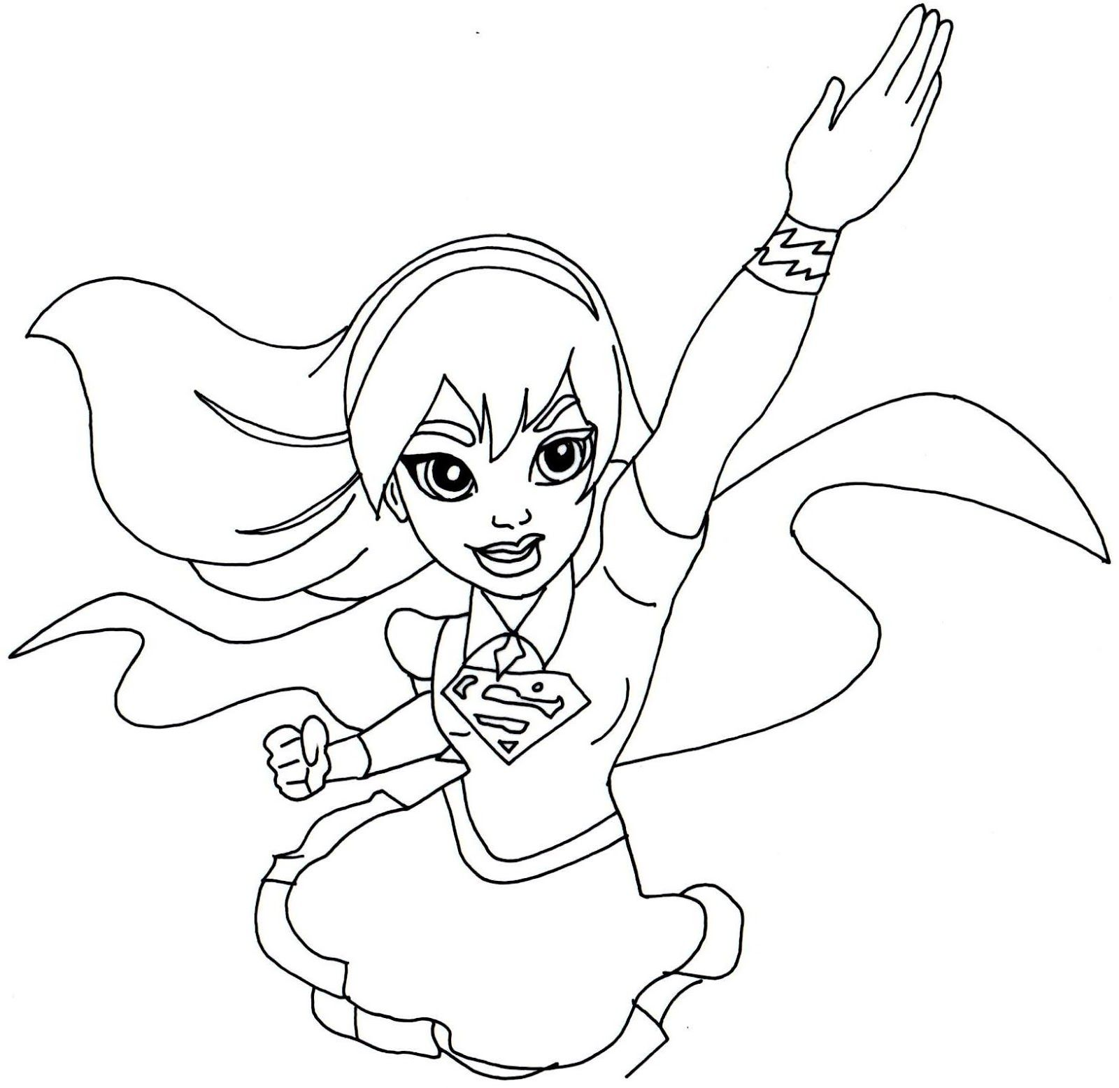 Supergirl Super Hero High Coloring Page Superchica