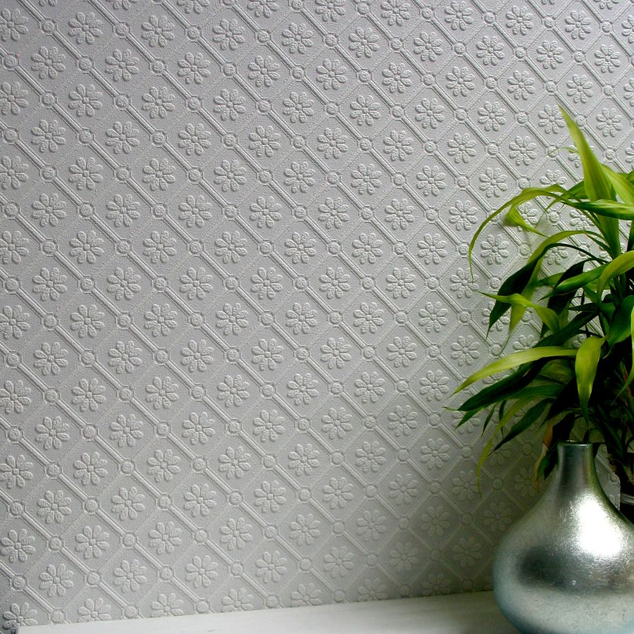 Brewster Wallcovering Anaglypta 57 5 Sq Ft Paintable Vinyl Textured Floral 3d Wallpaper Paintable Wallpaper Paintable Textured Wallpaper Vinyl Wallpaper
