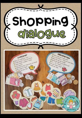 Shopping - A dialogue (differentiated) + play money Download#dialogue #differentiated #download #money #play #shopping
