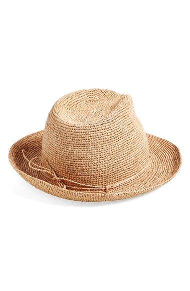 Helen Kaminski Raffia Crochet Packable Sun Hat available at  Nordstrom 91a6eae3e0aa
