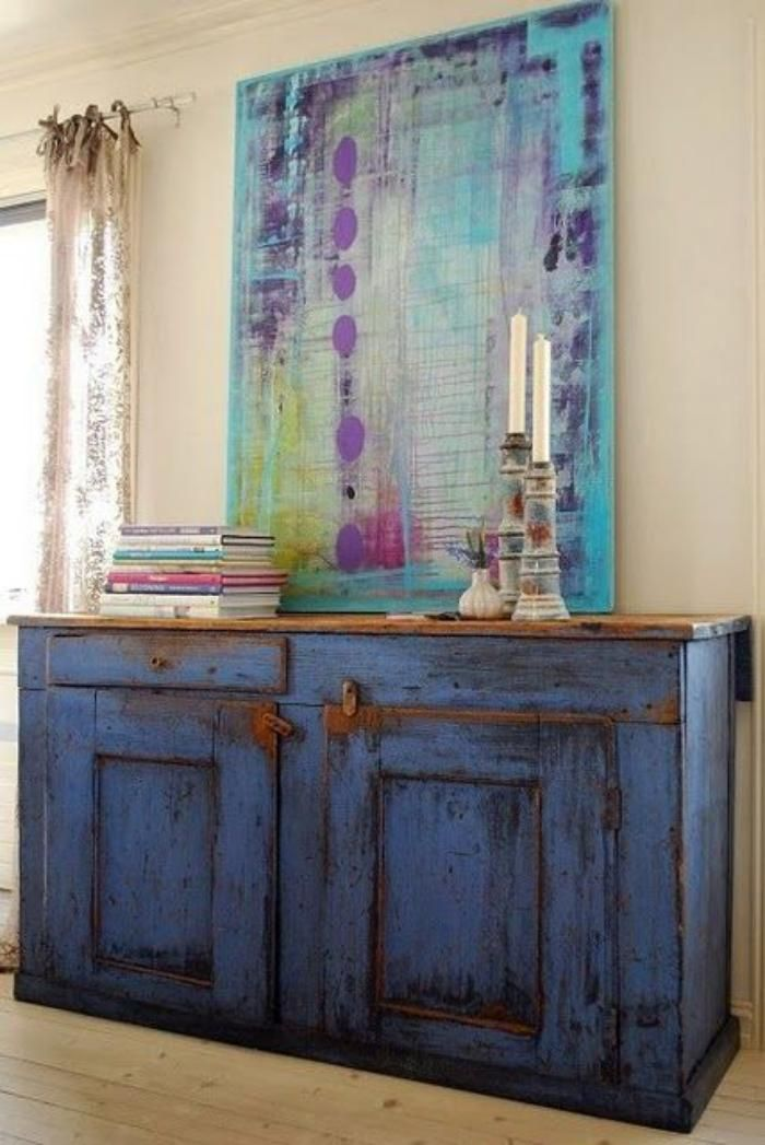 Relooker des meubles peut être facile et amusant Buffet, Paint - moderniser un meuble en bois
