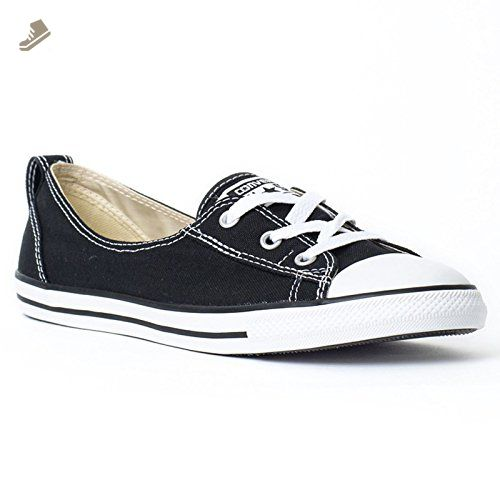5adcd37b1f6a9 Converse Womens CT Ballet Lace Black Canvas Trainers 38.5 EU ...