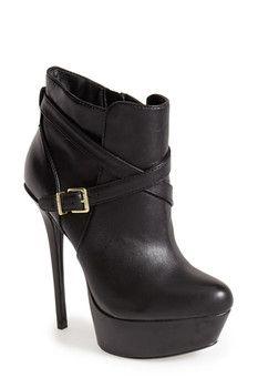 Steve Madden 'Sasssyy' Leather Platform Bootie (Women)