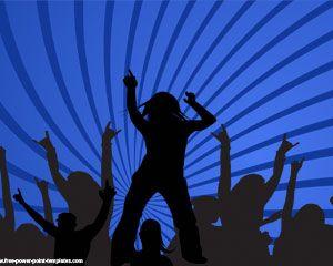 Concierto en Vivo Plantillas Powerpoint con gente bailando