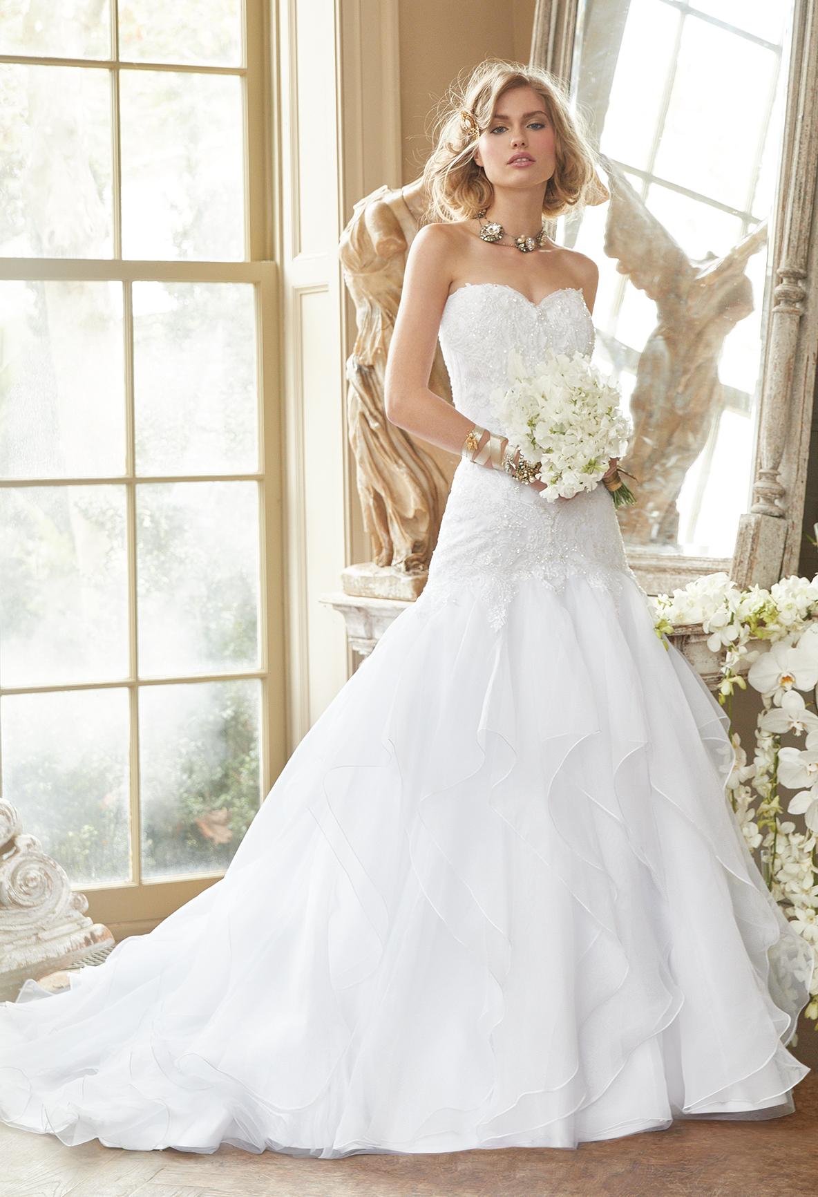 Tulle mermaid wedding dress  Sleeveless Beaded Organza Mermaid Dress  Silver heels Mermaid and