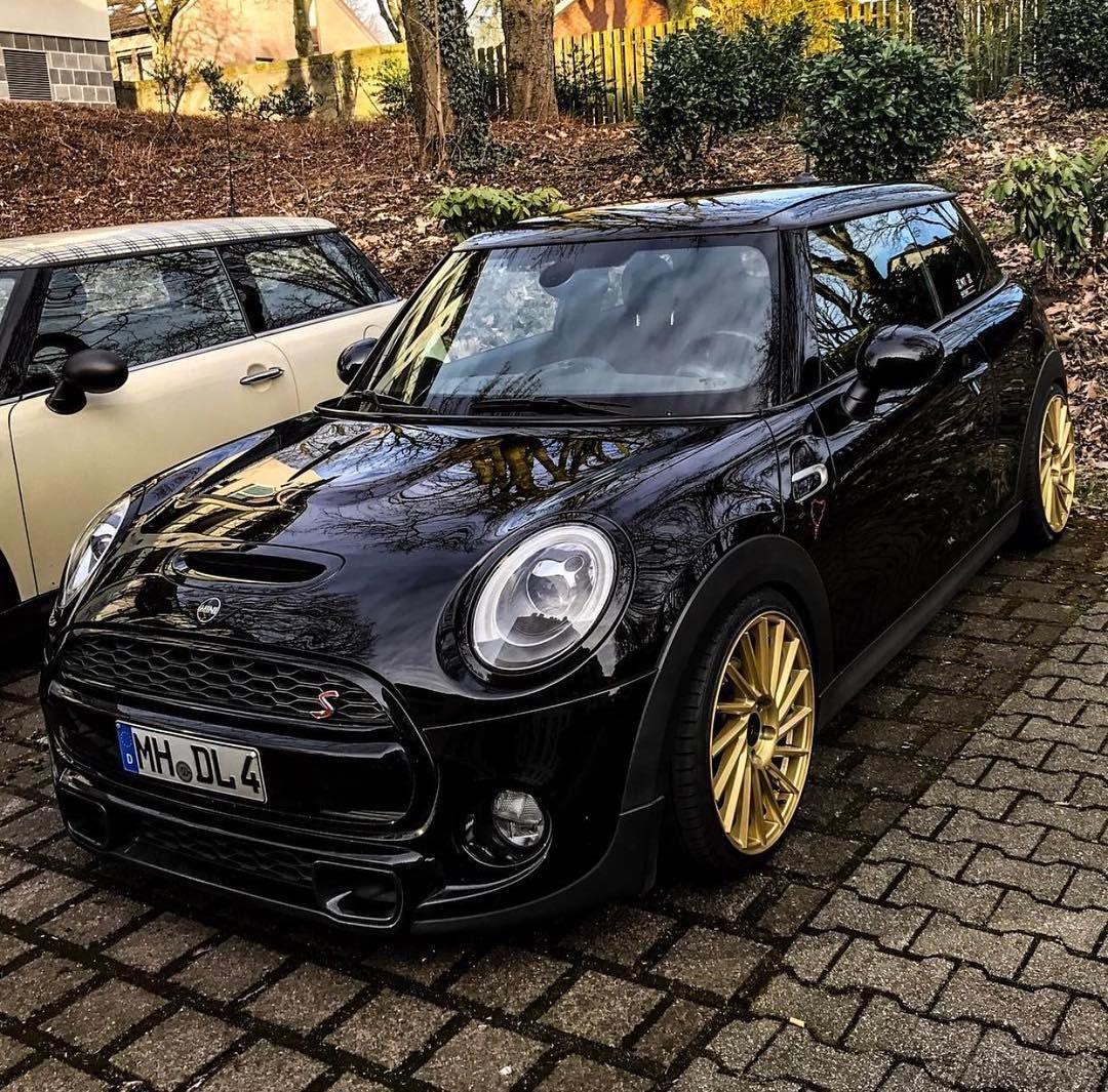 Black And Gold Mini Cooper Amazing!!!