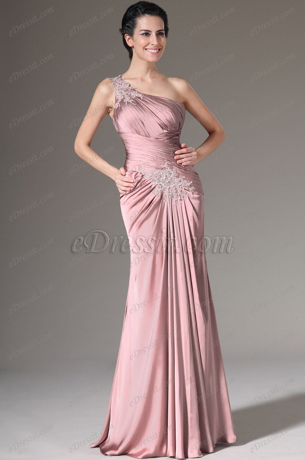 eDressit 2014 New Pink Crepe Satin Bolero 2 Pieces Formal Gown ...