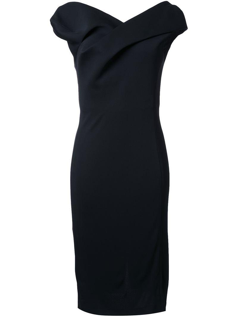 Chalayan sculptured midi dress, Women's, Size: 42, Black, Acrylic/Polyamide