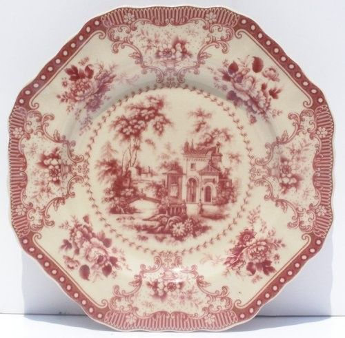 Antique French Toile China (Perhaps one accent plate with similar pattern) & Antique French Toile China (Perhaps one accent plate with similar ...