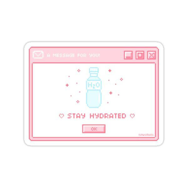 Stay Hydrated Notification Sticker