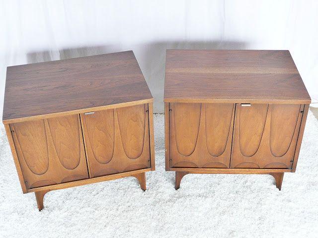 Bon Broyhill Brasilia Night Stand End Table Side Commode Vintage
