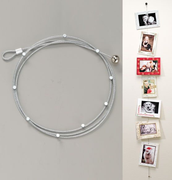 Simply display your greeting cards this holiday season with this card cable from Exposures!