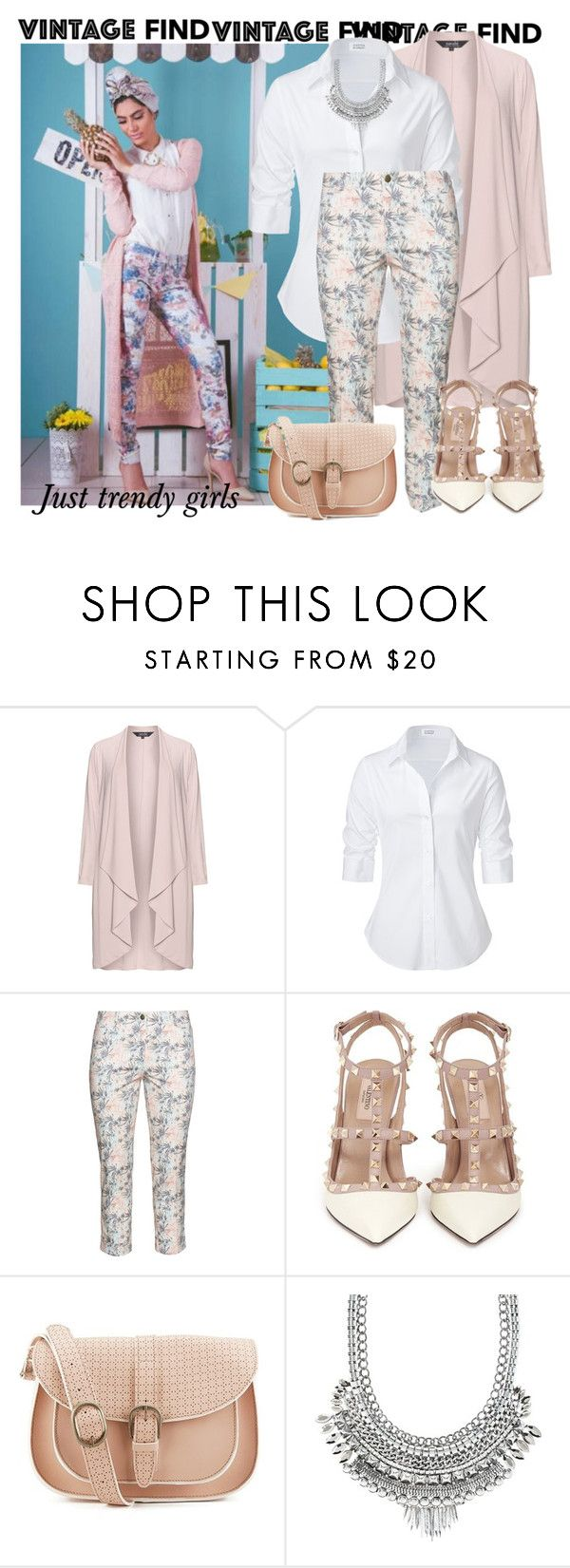 """""""long cardi"""" by justtrendygirls ❤ liked on Polyvore featuring navabi, Steffen Schraut, Raphaela by Brax, Valentino, Maison Scotch and Charlotte Russe"""