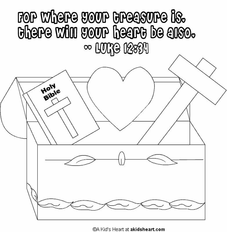 free christian coloring pages of a heart | Matthew 6 33 Coloring Page | Coloring Pages for Christian ...