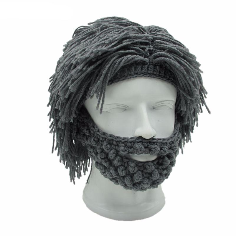78c2417a71684 ... Men Knitting Beard Beanie Mustache Mask Face Warmer Ski Bike Winter  Outdoor Hat Cap. Warm and Shaggy cap balaclava for the cave-dude in you!