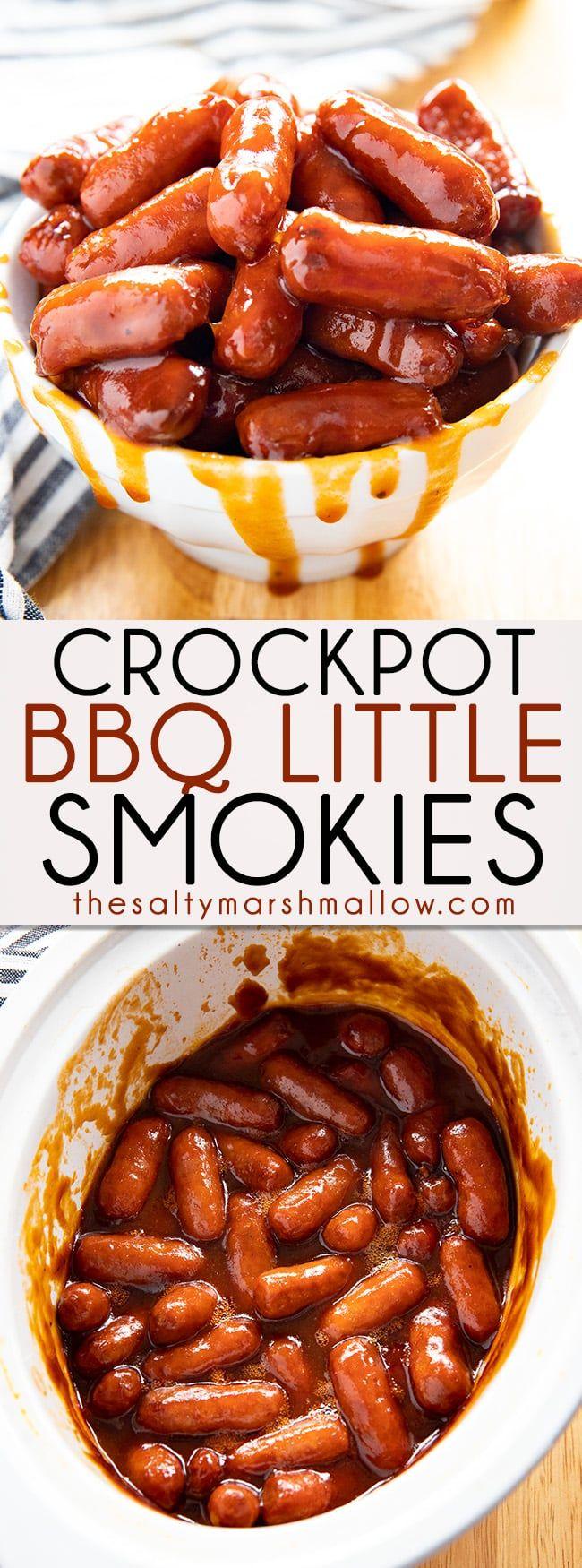 Crockpot BBQ Little Smokies - The Salty Marshmallow