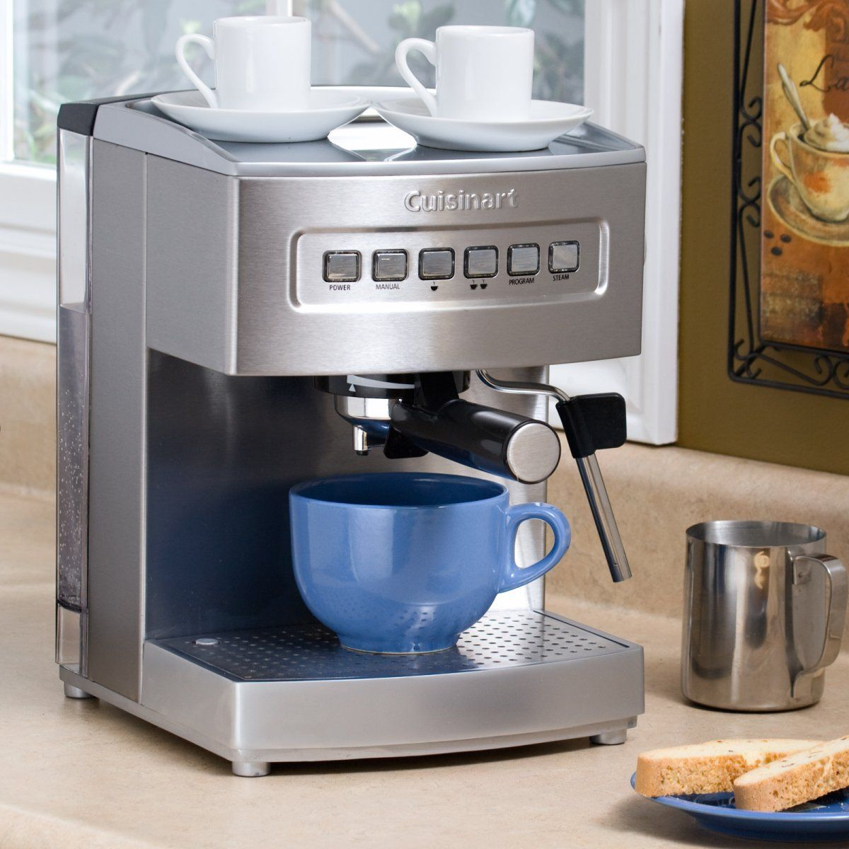 Cuisinart EM-200 Programmable Espresso Maker | www.hayneedle.com | Espresso machine, Espresso, Espresso machine reviews