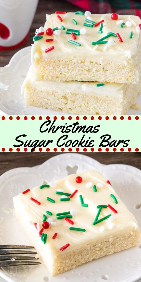 Save time this holiday season with this easy Christmas sugar cookie bars Theyre extra soft with a thick layer of frosting and way less work than sugar cookies Recipe from...