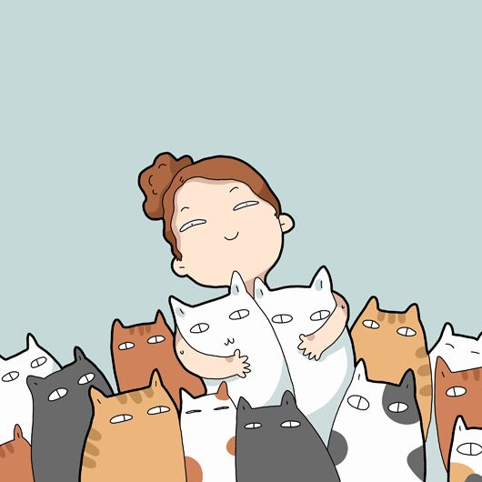 These cute cat doodles / comics are illustrated by Asia and Landysh Akhmetzyanova, all these beautiful illustrations are copyrighted by Asia and Landysh Ak