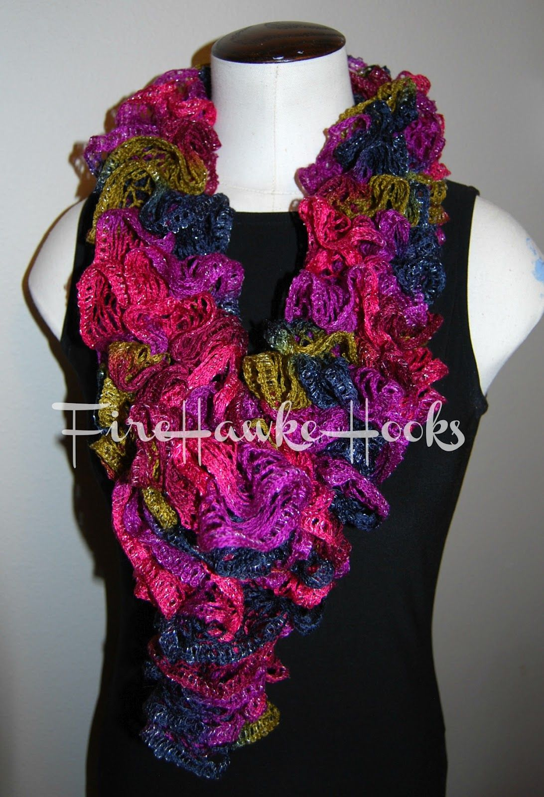 Ruffle Scarf - Free Pattern Materials: M hook Red-Heart Boutique ...