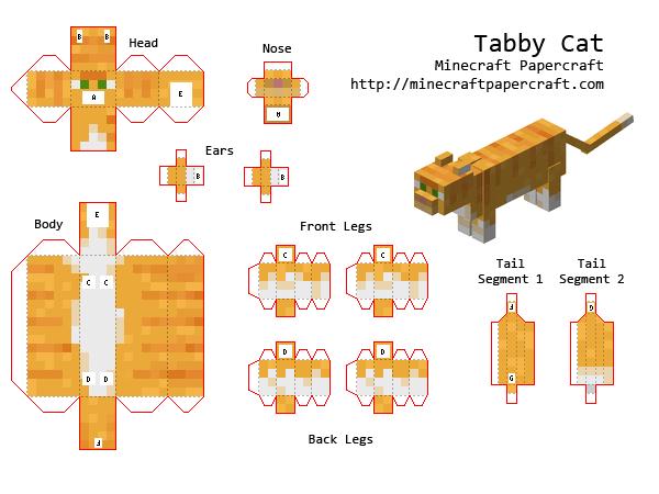 Papercraft Tabby Cat Minecraft Pinterest Bastelideen - Paper minecraft jetzt spielen